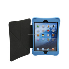 Max Gifts Silicone Tablet Case with Removable Leather Cover With Wake up and Sleep Function for iPad mini