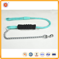 China Dog chain training flexible products nylon Rope retractable dog collar leash