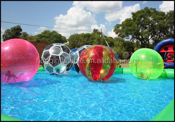 Factory prices colorful floating water walking ball, jumbo floating water ball, customized inflatable bubble water walking ball