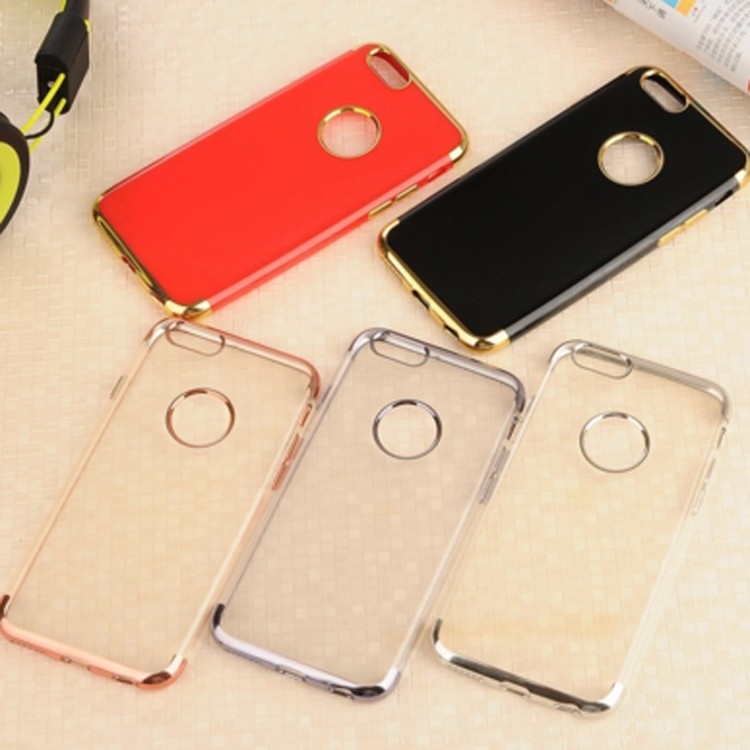 2016 newest mobile phone electroplate phone for iphone 7 plus case Laser carving Electroplate TPU case