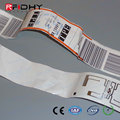 Custom Print Readable RFID Bag Tags with 512bit Memory