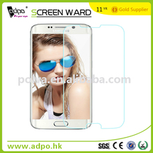 2015 Newest Product Cell Protector For Samsung Galaxy s6 Glass Screen Ward