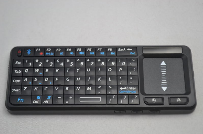 Russian Blutooth Mini Wireless Keyboard and Mouse for ipad with laser pointer and backlight