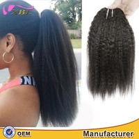 2016 new fashion virgin Mongolian kinky straight hair extensions weave 8a afro kinky human hair for braiding