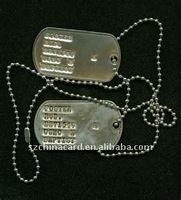 Stainless steel dog tag with ball chain