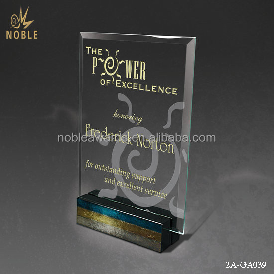 Glass Custom Plaque Cube K9 Crystal Trophy Award Block For The Power Of Excellence