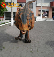 Velociraptor Realistic Costume Walking With Dinosaur