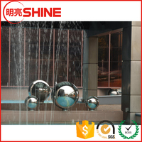 large hollow Metal Material and Ornaments Type wall fountain waterfall wall water fountain ball sphere 800mm 900mm 1000mm 1200mm