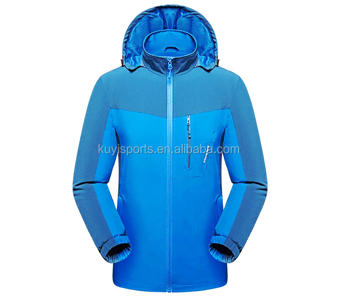 Outdoor Jacket Sport Wear Men Fishing Water-proof Softshell Jacket with Hoodies