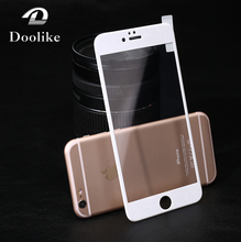 New products 2016 9h 0.2mm 3D round edge tempered glass screen protector for iphone 6 / 6S glass screen protector