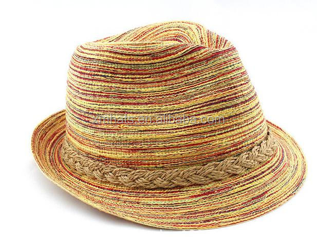 New products Trade Assurance scottish white fedora paper straw hat
