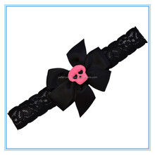 New Arrival Children Halloween Hair Accessory Kids Ribbon Bow Lace Headbands