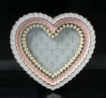 mini heart-shaped metal alloy photo picture frame for lover