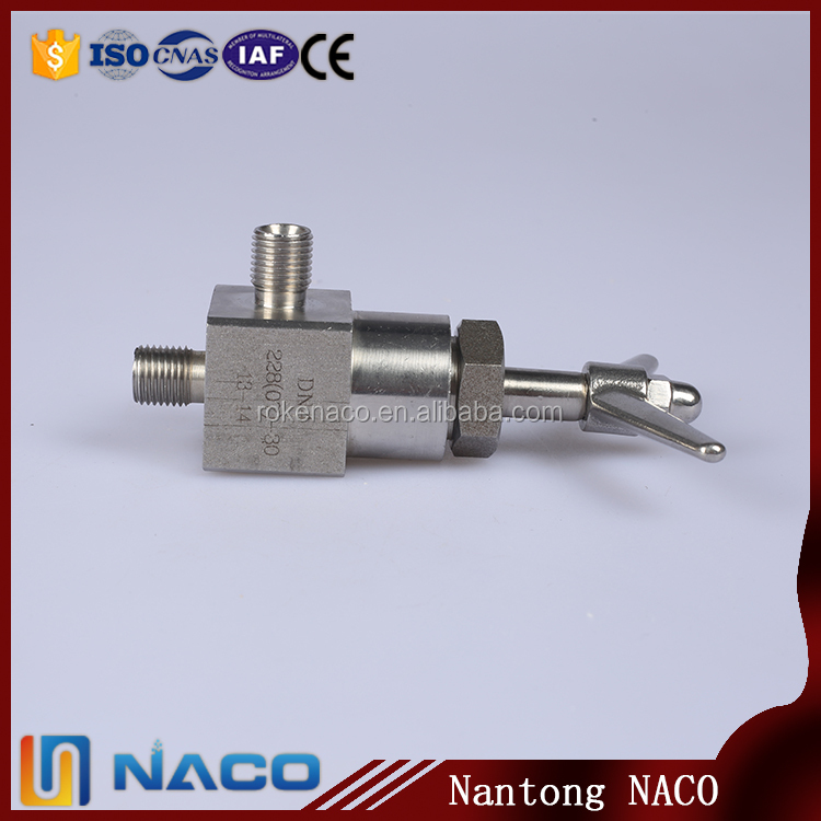 Right Angle Valve Ss316 Ss304 Water Flow Control Needle Valve