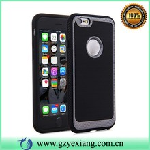 cheap factory price hybrid slim armor case for apple iphone 4 rubber gel cover