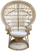 Lady rattan peacock chair with cushion