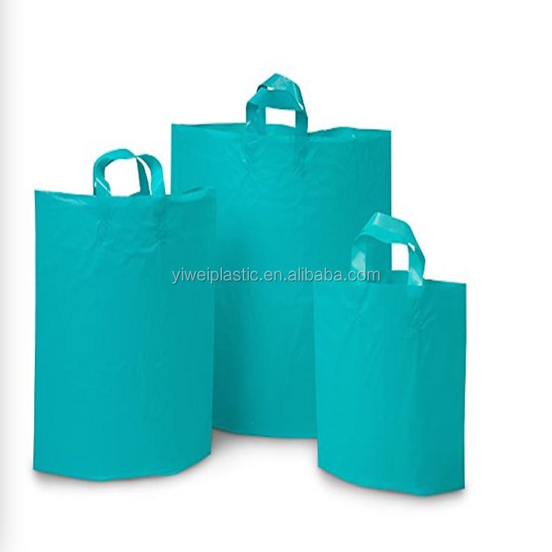 Reusable Soft Loop Plastic Bags Colossal Citrus Studio Shopping Bag Bulk 25% Recycled Plastic