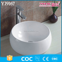 YJ9167A Small Round Wash Hand Basin Vessel Vanity in Bowl Shape