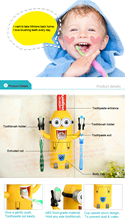 Low price funny minion toothpaste dispenser wedding favors and gifts for guest