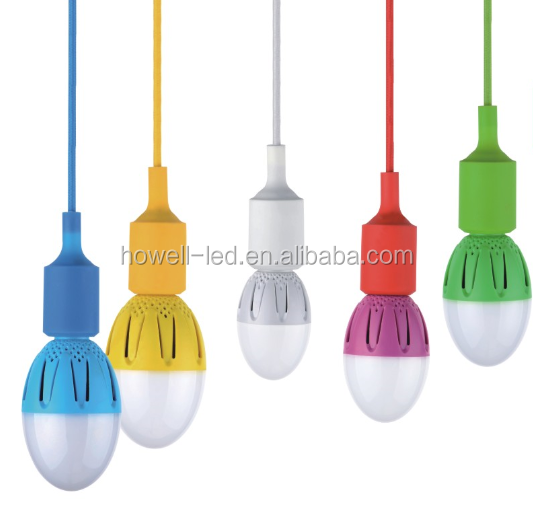colorful E27 LED bulb 9W hanging suspended bulb ningbo