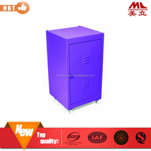 Mini metal wheel cabinet/small wheel foot metal cabinet/mini mobile storage cabinet