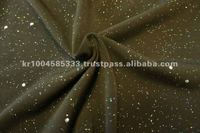 SOLID ITY SINGLE SPANDEX WITH HOLO METALLIC PRINT FABRIC (MADE IN KOREA)