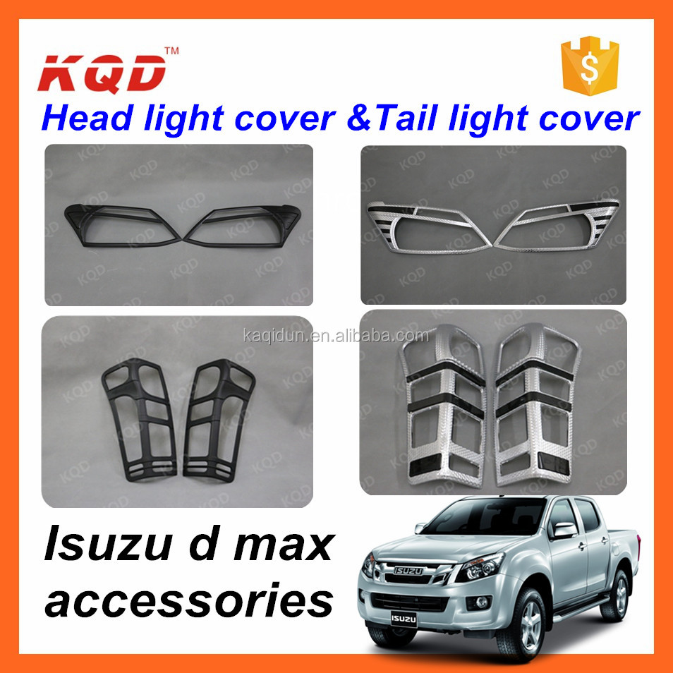 cromo piezas para camiones 2013isuzu d-max accesorios taillight cover headlight bezel body parts for dmax accessories