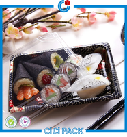 promotion healthy food grade PS Disposable Small Plastic sushi Food Tray