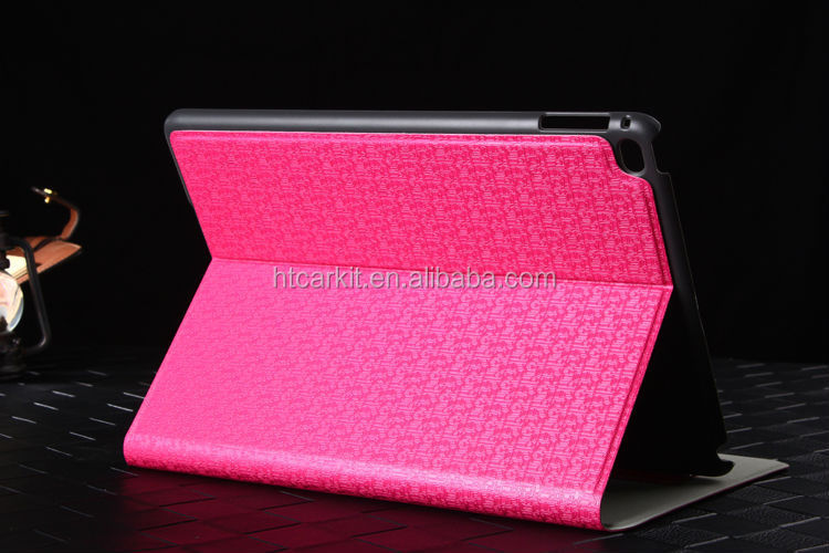 Manufacturer direct sale leather case for ipad 6 for apple ipad air 2 case