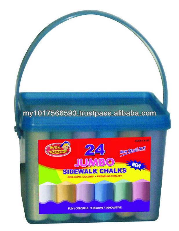24ct Sidewalk Jumbo Dustless Colored Chalk