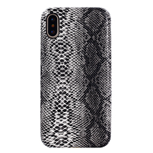 For iPhone X Phone Cover Snakeskin PU Leather Mobile Phone Shell for iPhone 8 Case
