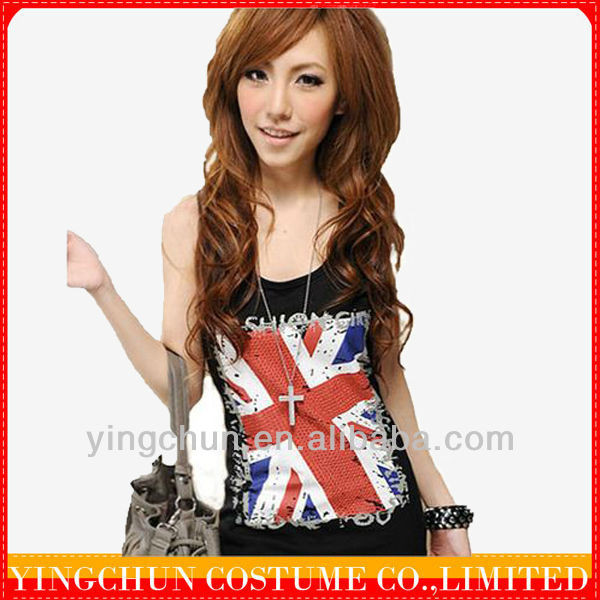 Black Womens Vests and tank tops