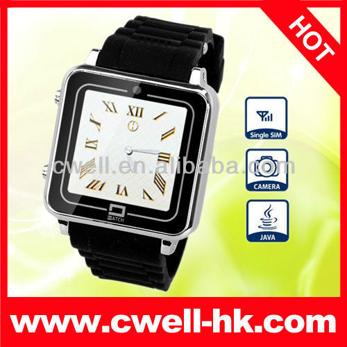 2013 watch phone PS-TW208 JAVA GSM With Fashion Metal Body and Multi-Colors