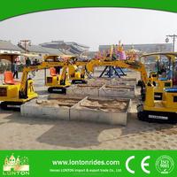 park amusement children's game rides small mini excavator for sale