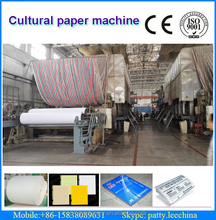 wheat stalk pulp making line 1575mm printing paper making machine, 10 T/D, raw material: waste paper, sulphate bleached pulp