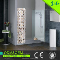 New design wall mounted shower sliding room with low price