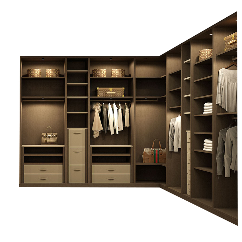 2018 outstanding modern <strong>style</strong> walk in plywood wardrobe system <strong>design</strong> with best price