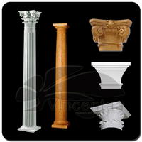 Popular Design Carved flower Marble Column Made in China