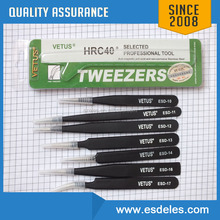 Stainless Steel Fine Point Curved SMD Tweezer