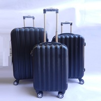 Hard PC/ABS Luggage Set, Aluminium Trolley Purple Luggage