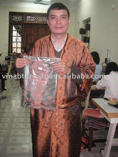 Silk robe from Ha Dong Vietnam