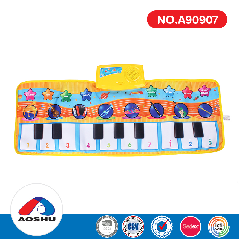 educational portable colorful electric musical keyboard kids play mat for wholesale
