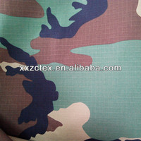 Polyester cotton T/C 65/35 20*16 102*56 camouflage waterproof canvas fabric for tent
