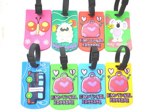 bulk embossing cute bag soft pvc novelty luggage tags