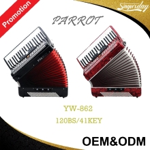 China professional 120 Bass 41Key Parrot Diatonic Piano Accordion