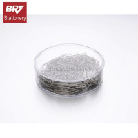Silver metal paper clip for office