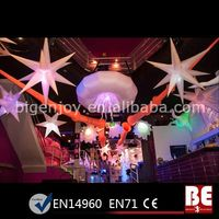 Indoor Led Star Lights Inflatable Decoration For Party
