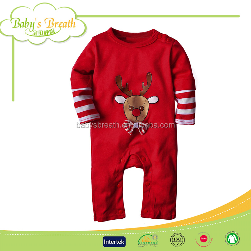 BCA31 Wholesale Designer Cheap Unisex Adult Size Christmas Baby Clothes Sale from China