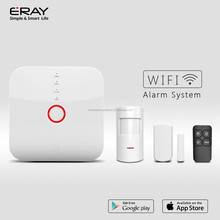 ERAY 2017 newest WIFI/GSM/SMS alarm system with touch screen,black&white color smart home security alarm system