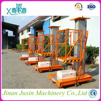 Hot sale aluminium single person hydraulic lift/vertical electric man lift
